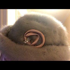 Vintage Grey mink lovely satin inside,original tag